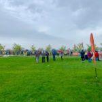 6k run event start. Participants start moving