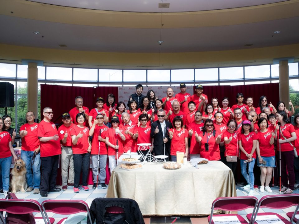 Group photo of Pastor Danny, VIPs and volunteers