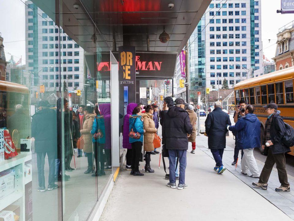 Shuttle bus arriving the theatre