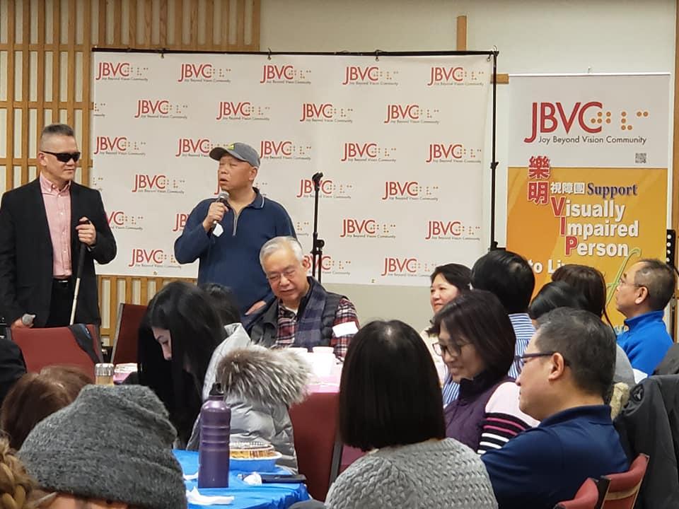 VIP sharing his story in Volunteer's appreciation night